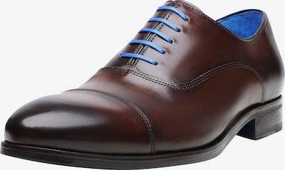 SHOEPASSION Businessschuhe durchgenäht 'No. 5568 BL' in blau / dunkelbraun, Produktansicht