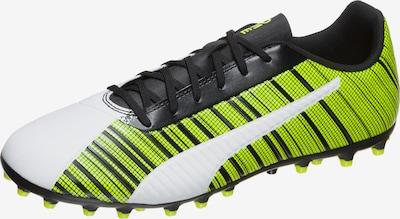 PUMA Fußballschuh 'ONE 5.4 MG' in neongelb / schwarz / weiß: Frontalansicht
