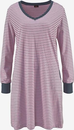H.I.S Süßes Nachthemd, in Ringeloptik mit langen Ärmeln in rosa, Produktansicht