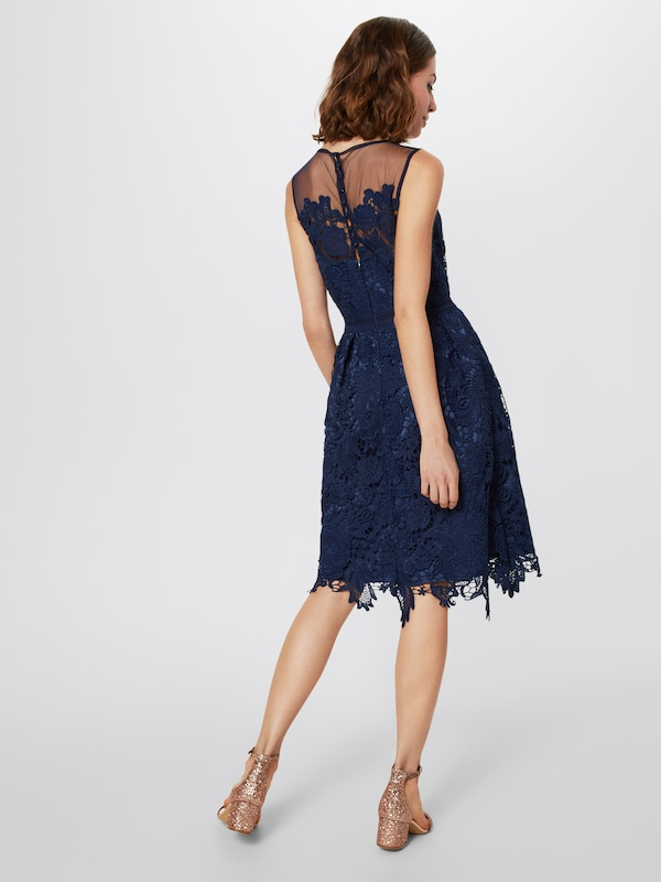 Chi De En Robe Cocktail Bleu London Marine SVzMUp