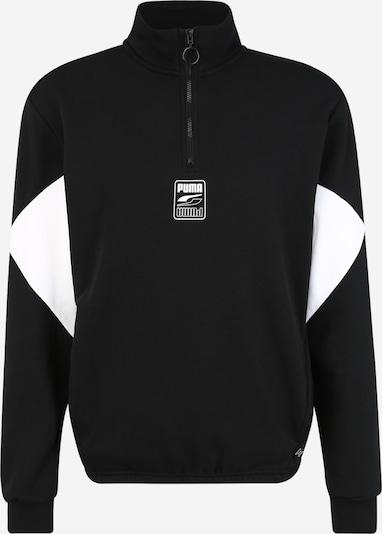 PUMA Sweat de sport 'Rebel' en noir / blanc, Vue avec produit