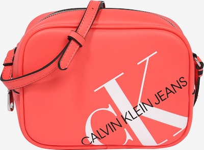 Geantă de umăr Calvin Klein Jeans pe roșu / negru / alb: Privire frontală