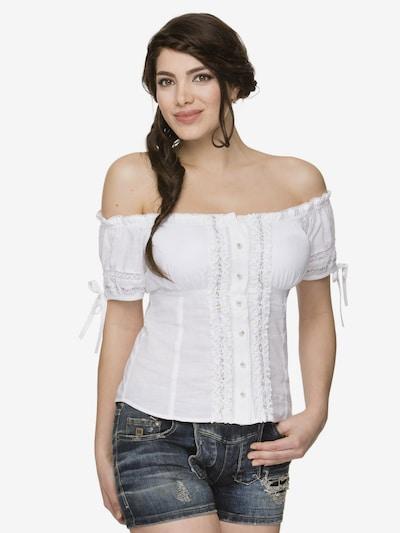 STOCKERPOINT Bluse 'Salomea' in weiß, Modelansicht