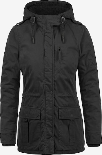 Desires Winterjacke 'Lisa' in schwarz: Frontalansicht