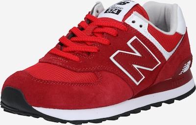 new balance Baskets basses en rouge carmin / rouge clair / blanc, Vue avec produit