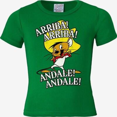 LOGOSHIRT T-Shirt 'Speedy Gonzales - Looney Tunes' in gelb / grün / weiß, Produktansicht