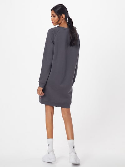LEVI'S Kleid 'CREW SWEATSHIRT DRESS' in dunkelgrau: Rückansicht