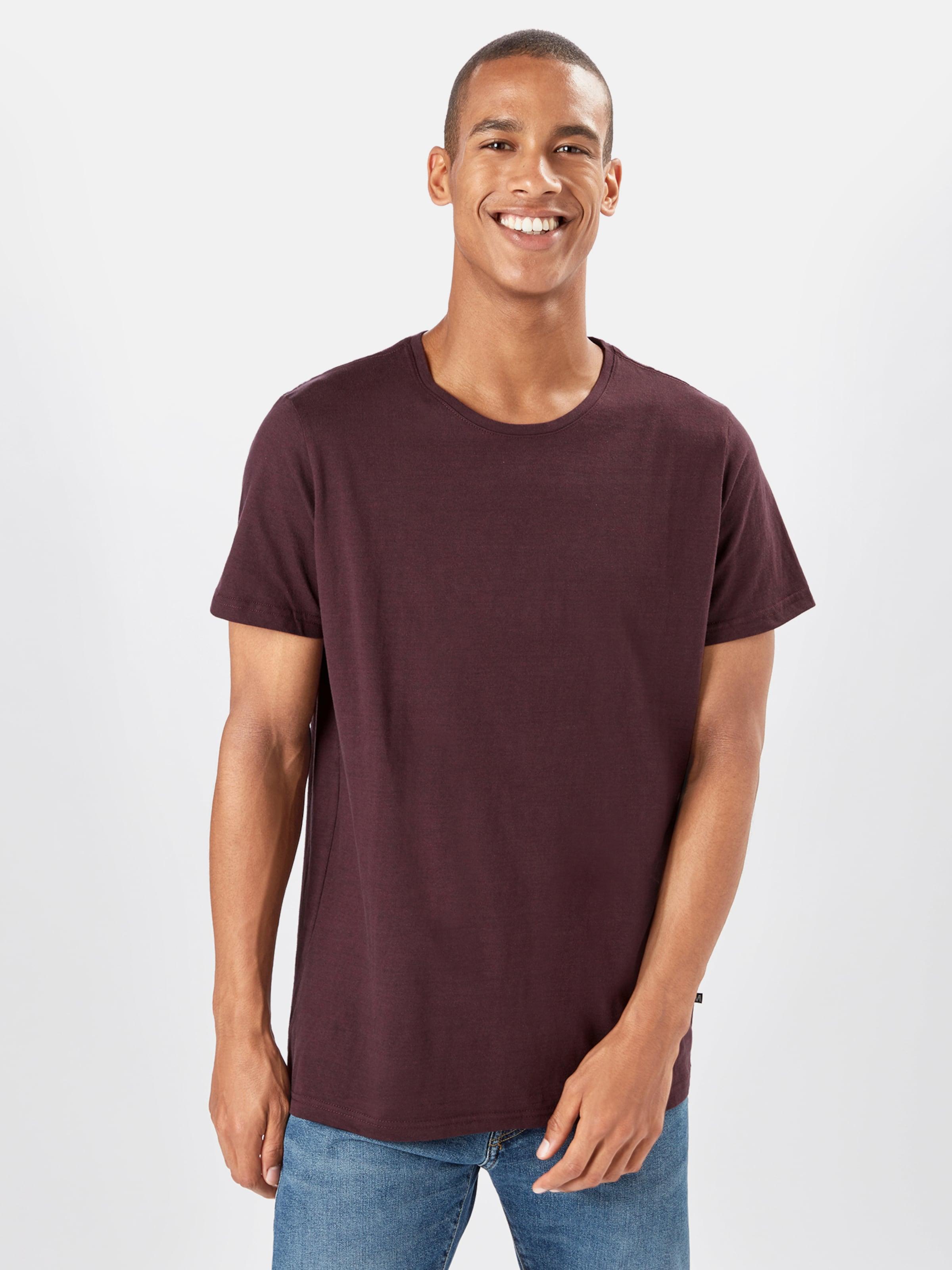 Matinique T-Shirt 'Jermane' in weinrot Unifarben MAT0068001000001