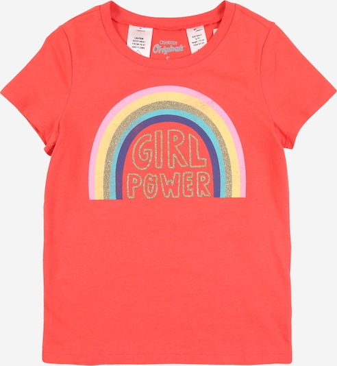 OshKosh Shirt 'graphic OKO RD33496 Geranium rainbow' in rot, Produktansicht