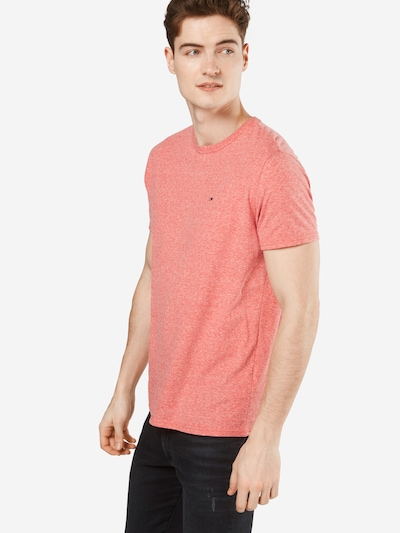 Tommy Jeans T-Shirt 'Original Triblend' in rotmeliert: Frontalansicht