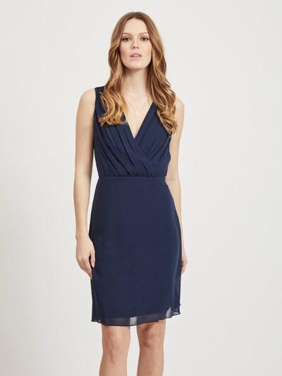 VILA Plisseedetail Minikleid in dunkelblau, Modelansicht