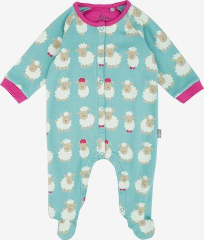 SIGIKID Schlafanzug in hellbeige / opal / dunkelpink / weiß, Produktansicht
