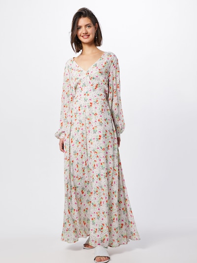 Essentiel Antwerp Šaty 'Plunge' - mix barev / bílá, Model/ka
