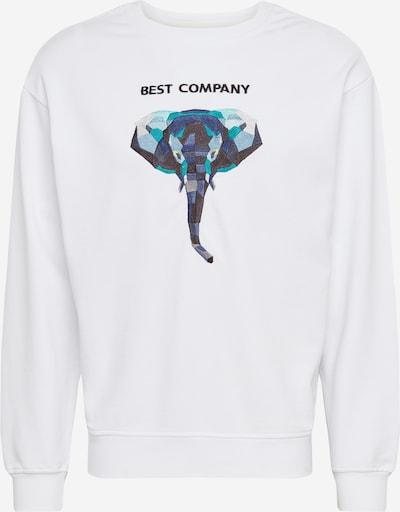 Best Company Sweatshirt ' ELEPHANT' in blau / weiß, Produktansicht
