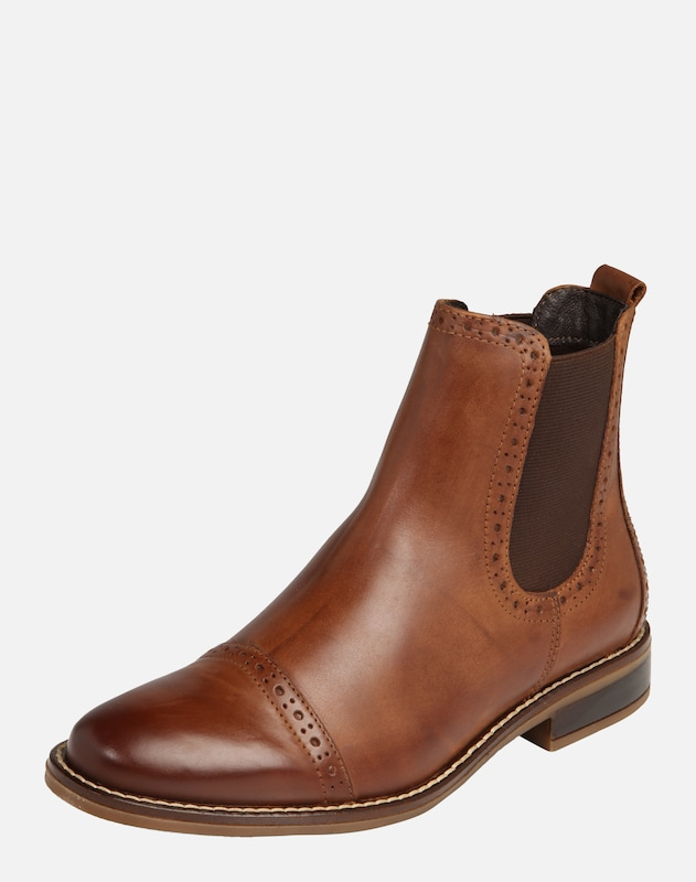 fde02f66bf Pier One Stiefelette aus Leder in cognac | ABOUT YOU