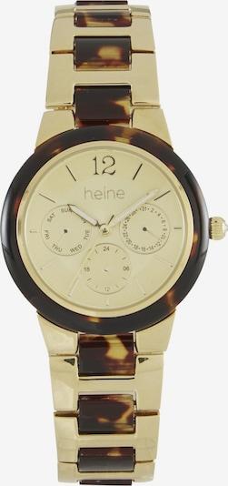 heine Uhr in braun / gold, Produktansicht
