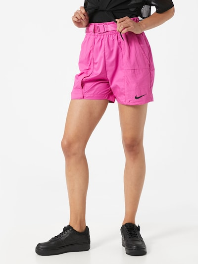 Nike Sportswear Shorts 'W NSW SWSH SHORT WVN' in fuchsia, Modelansicht