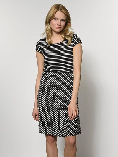 VERO MODA Kleid mit kurzen Ärmeln in schwarz / weiß, Modelansicht