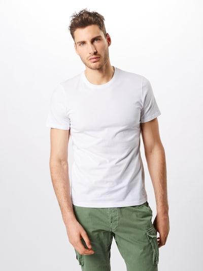 TOM TAILOR T-Shirt 'double pack crew neck tee T-Shirt 1/2' en blanc: Vue de face