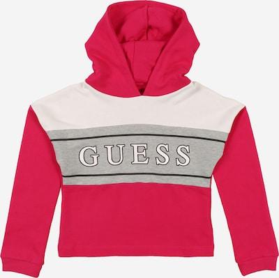 GUESS KIDS Sweatshirt in de kleur Grijs gemêleerd / Watermeloen rood / Zwart / Wit, Productweergave