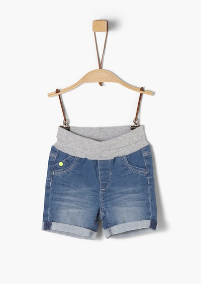 s.Oliver Denim-Shorts in blue denim / hellgrau, Produktansicht