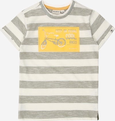 GARCIA T-Shirt en jaune / olive / blanc, Vue avec produit