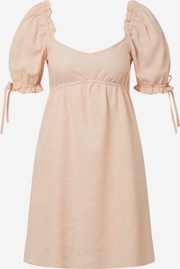 Miss Selfridge Kleid 'LINEN PLAIN TEA' in apricot: Frontalansicht