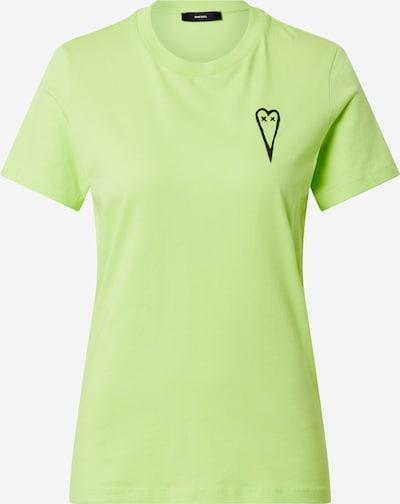 DIESEL T-shirt en jaune fluo, Vue avec produit