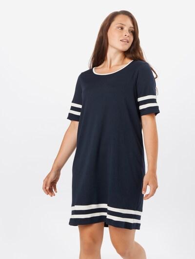 Junarose Kleid 'LIZETTE' in navy / weiß, Modelansicht