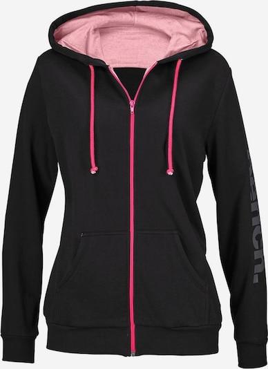 BENCH Kapuzenjacke in pink / schwarz, Produktansicht