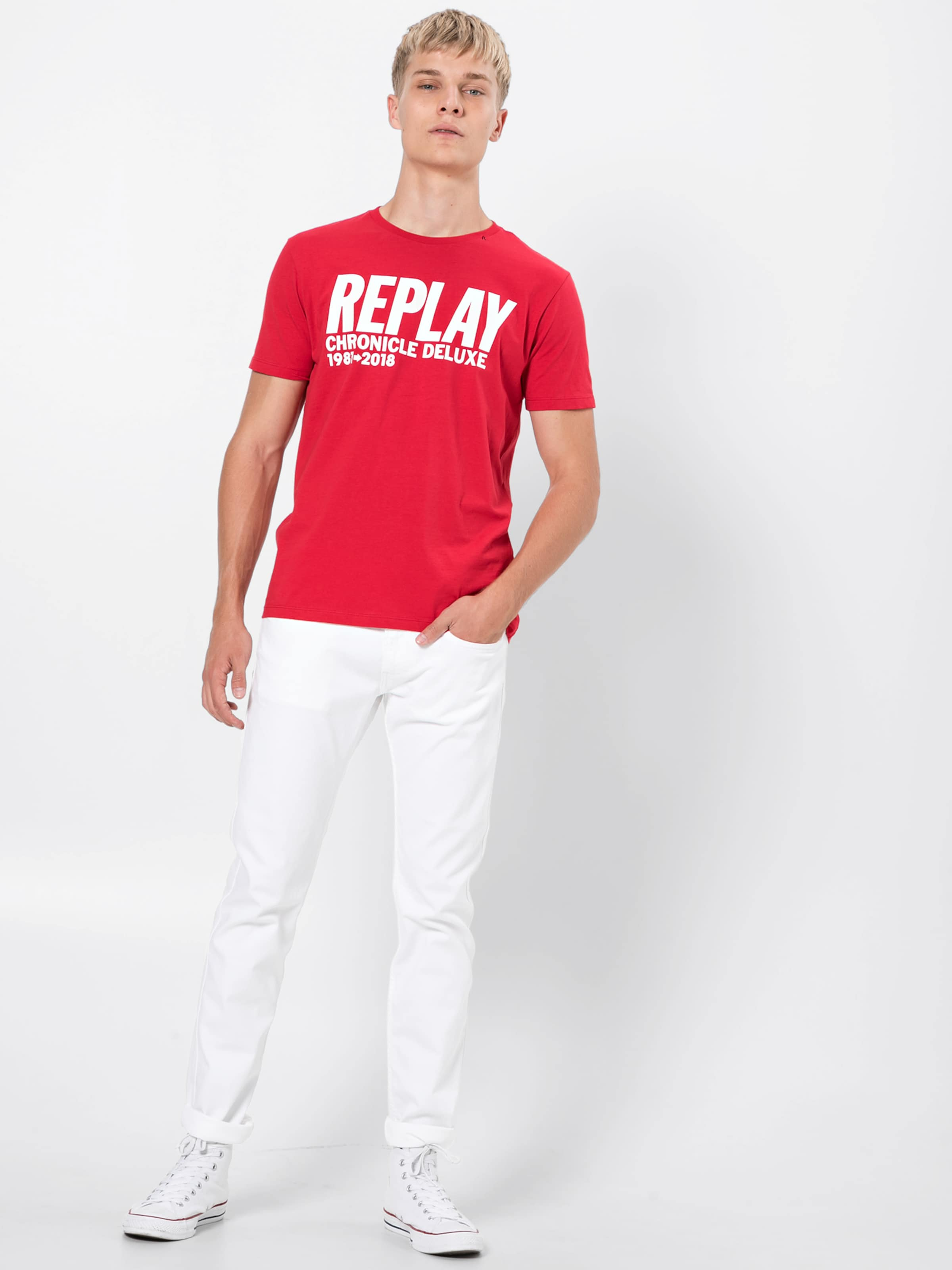 Replay Jeans White In Denim 'anbass' pSqzMUV