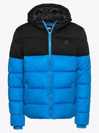 Urban Classics Winterjas in de kleur Royal blue/koningsblauw / Zwart, Productweergave
