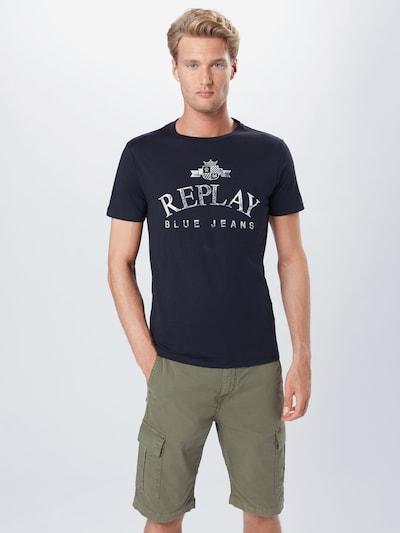 REPLAY T-Shirt in schwarz / weiß, Modelansicht