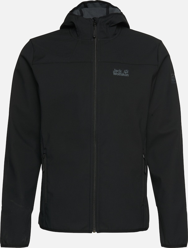 JACK WOLFSKIN Softshelljacke 'NORTHERN POINT' in schwarz, Produktansicht
