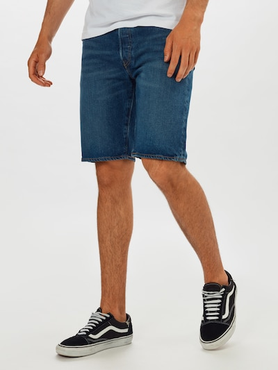 LEVI'S Shorts '501' in blue denim, Modelansicht
