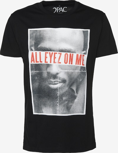 Mister Tee T-Shirt '2Pac All Eyez On Me' in schwarz / weiß, Produktansicht