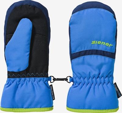 ZIENER Skifäustlinge 'Lejano AS' in blau / nachtblau / apfel, Produktansicht