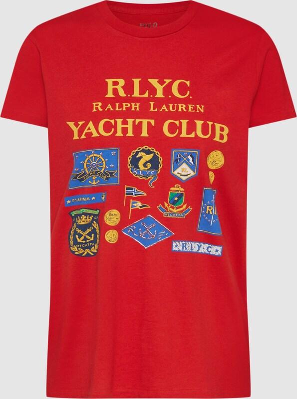 POLO RALPH LAUREN Shirt 'RLYC RL TEE-SHORT SLEEVE-KNIT' in blau   Goldgelb   rot  Neuer Aktionsrabatt