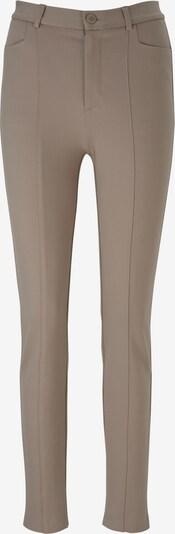 Kelnės su kantu iš heine , spalva - rausvai pilka: Vaizdas iš priekio