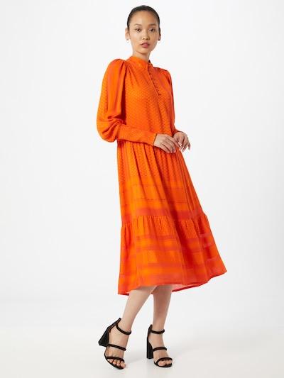 Cecilie Copenhagen Kleid 'Elly' in orange, Modelansicht
