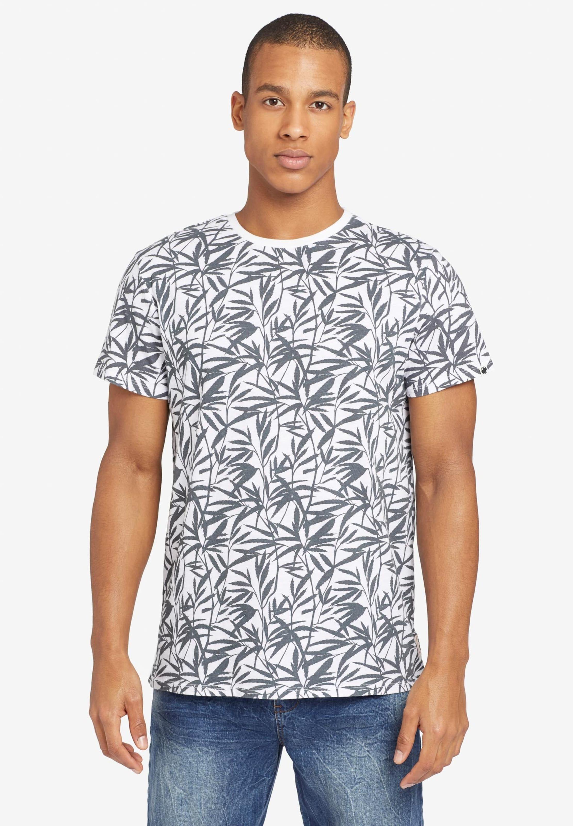 NoirBlanc shirt Leaf' T 'alberto En Khujo FJlc1K