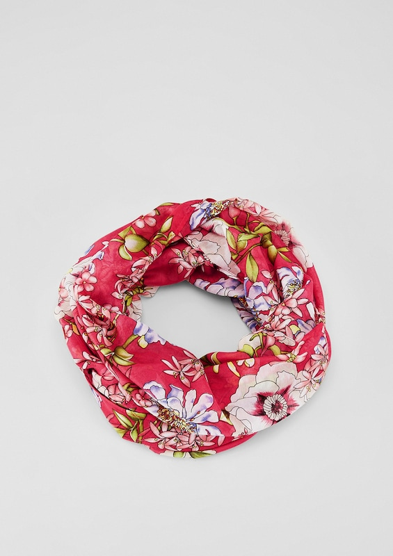 s.Oliver RED LABEL Loop mit floralem Print
