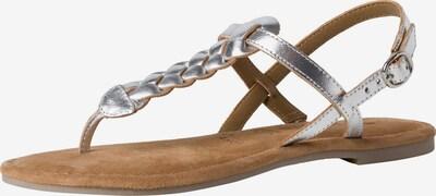 TAMARIS Sandale in hellbraun / silber, Produktansicht