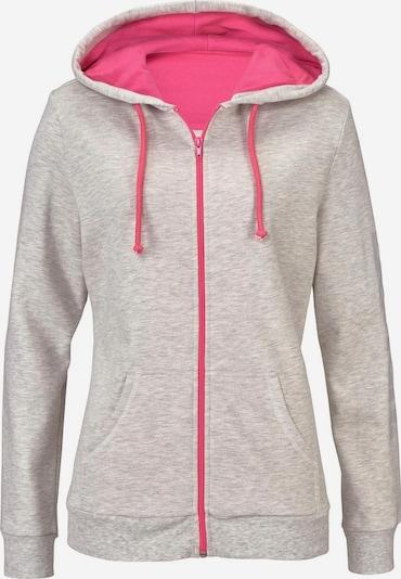 BENCH Kapuzenjacke in hellgrau / pink, Produktansicht