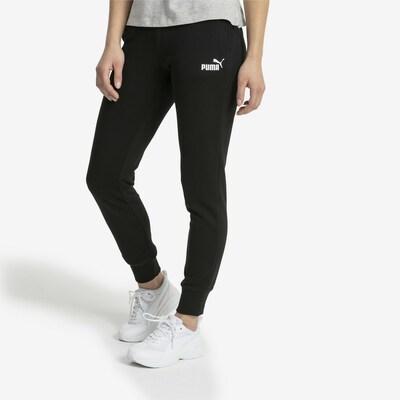 PUMA Sporthose 'Essential' in schwarz / weiß: Frontalansicht