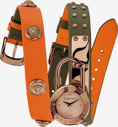 VERSACE Uhr 'VEDW00519' in gold / oliv / dunkelorange, Produktansicht