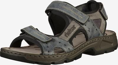 RIEKER Sandalen in taubenblau / taupe, Produktansicht
