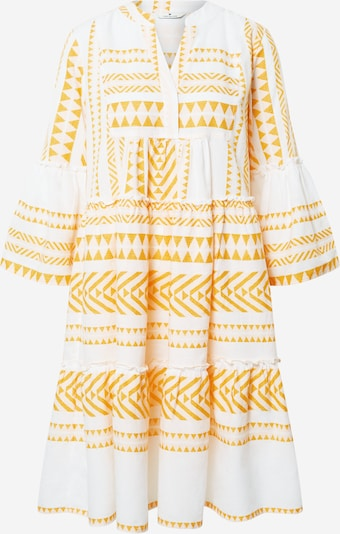 TOM TAILOR Kleid in gelb / weiß, Produktansicht