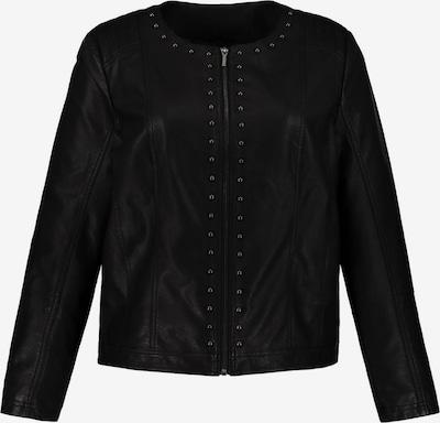 Ulla Popken Jacke 'Lederimitat Jacke mit Nieten' in schwarz, Produktansicht