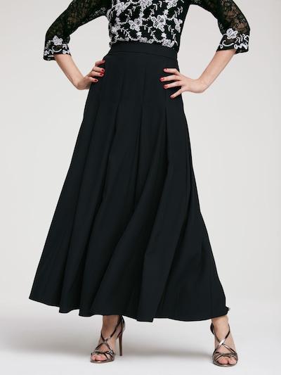 Sijonas iš heine , spalva - juoda: Vaizdas iš priekio
